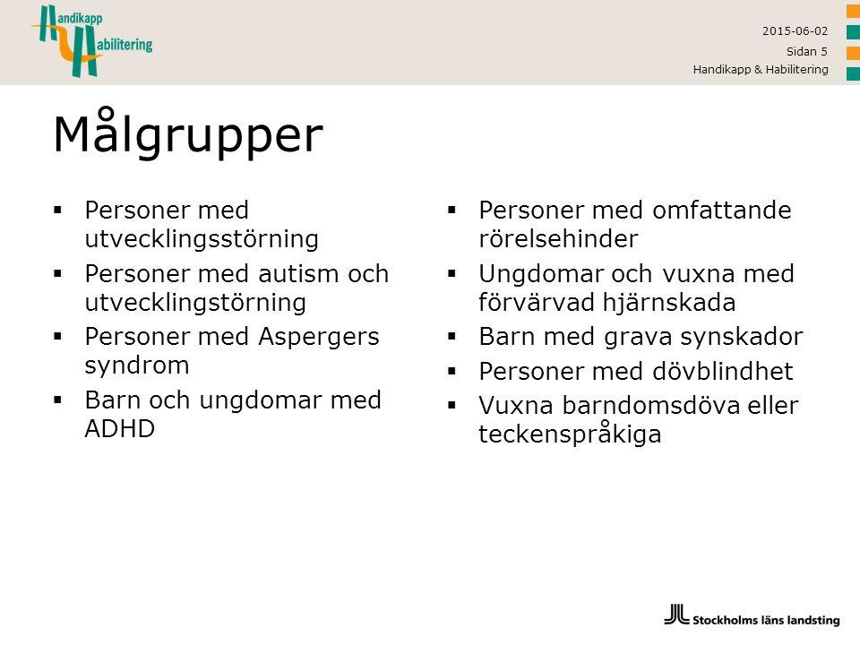 2015-06-02 Handikapp & Habilitering Sidan 16 Spets: Problemskapande beteende  Vad är problemskapande beteende.