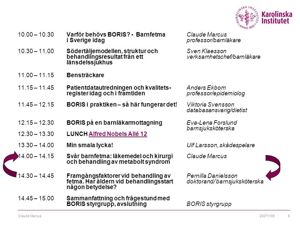 20071108Claude Marcus14 T2D och IGT bland obea barn och ungdomar T2DIGT  USA (Caprio -02) 4% 20%  Italy (Invitti -03)0.2%4.5%  Germany (Wiegand -05)1%8%  Sweden preliminary data1.2%.