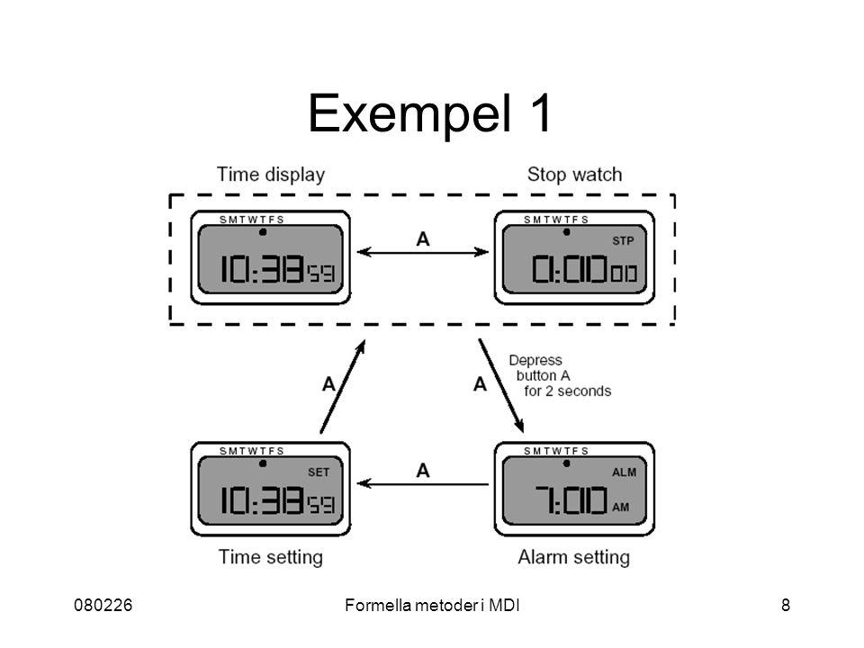 080226Formella metoder i MDI19 Konferenser CADUI - Computer-Aided Design of User Interfaces EHCI - Engineering for HCI TAMODIA - TAsk MOdels and DIAgrams for User Interface Design