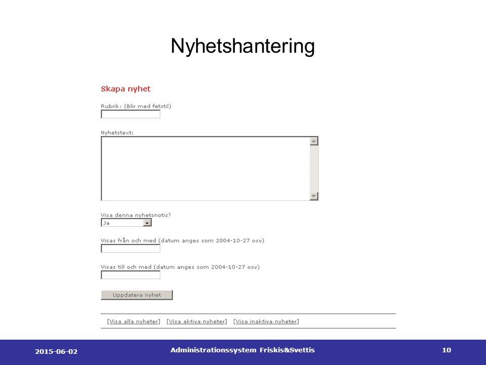 2015-06-02 Administrationssystem Friskis&Svettis10 Nyhetshantering