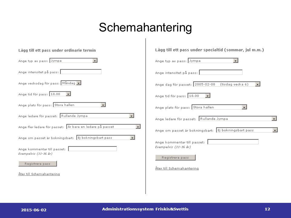 2015-06-02 Administrationssystem Friskis&Svettis12 Schemahantering