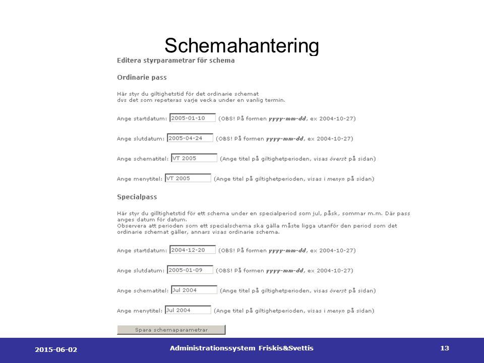 2015-06-02 Administrationssystem Friskis&Svettis13 Schemahantering