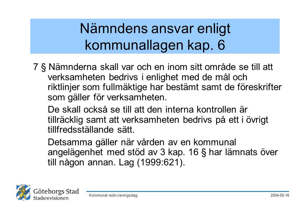 2004-06-16Kommunal redovisningsdag 34 § I följande slag av ärenden får beslutanderätten inte delegeras: 1.