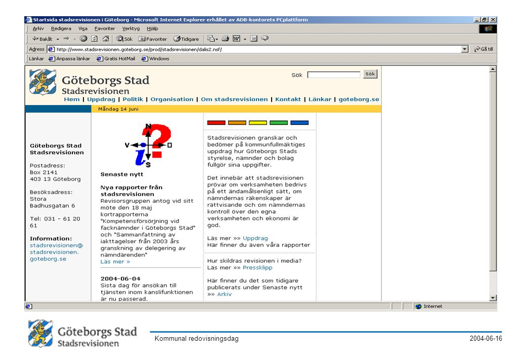 2004-06-16Kommunal redovisningsdag