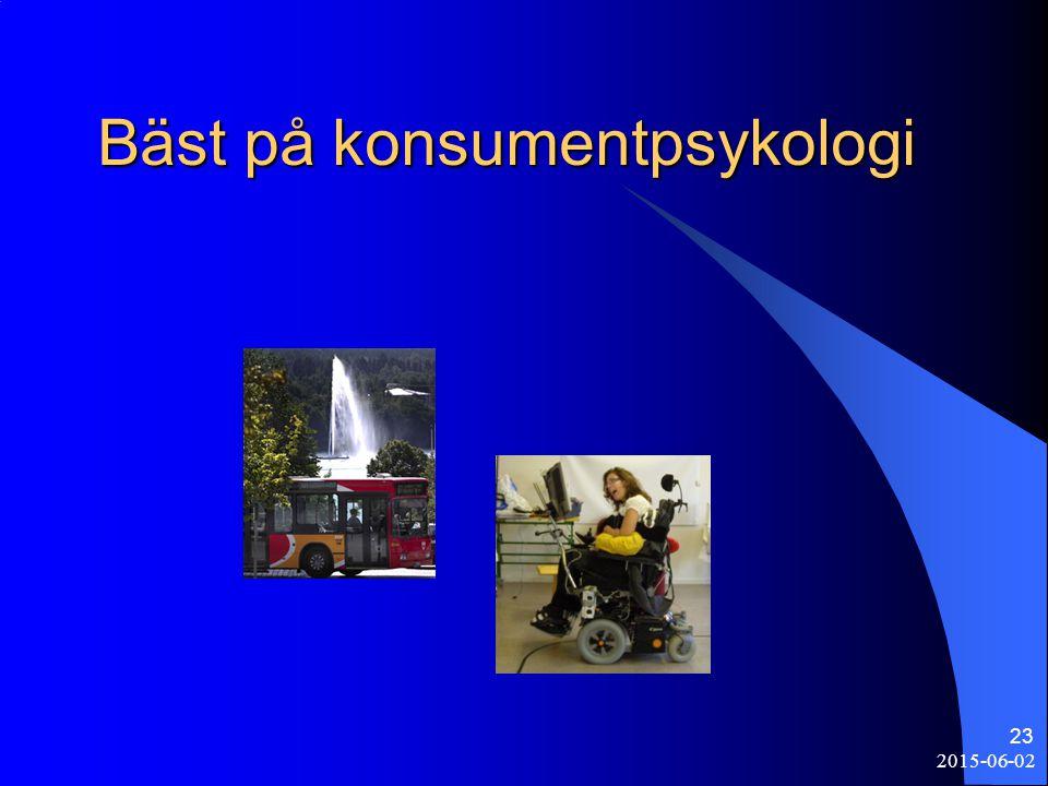 Bäst på konsumentpsykologi 2015-06-02 23