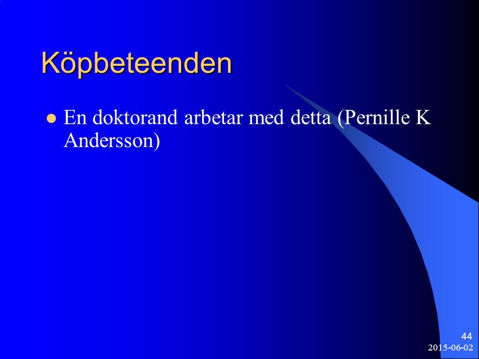 2015-06-02 44 Köpbeteenden En doktorand arbetar med detta (Pernille K Andersson)