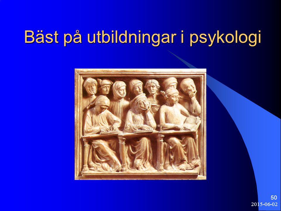 2015-06-02 50 Bäst på utbildningar i psykologi