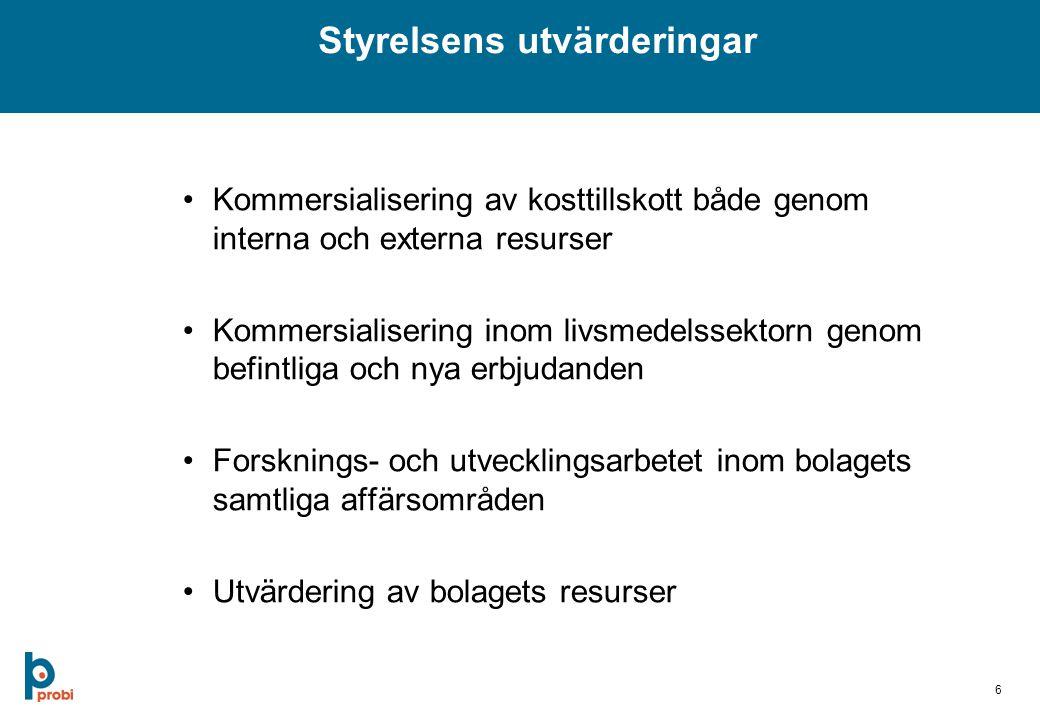 7 Årsstämma 8 maj 2007 Rolf Bjerndell, tf VD