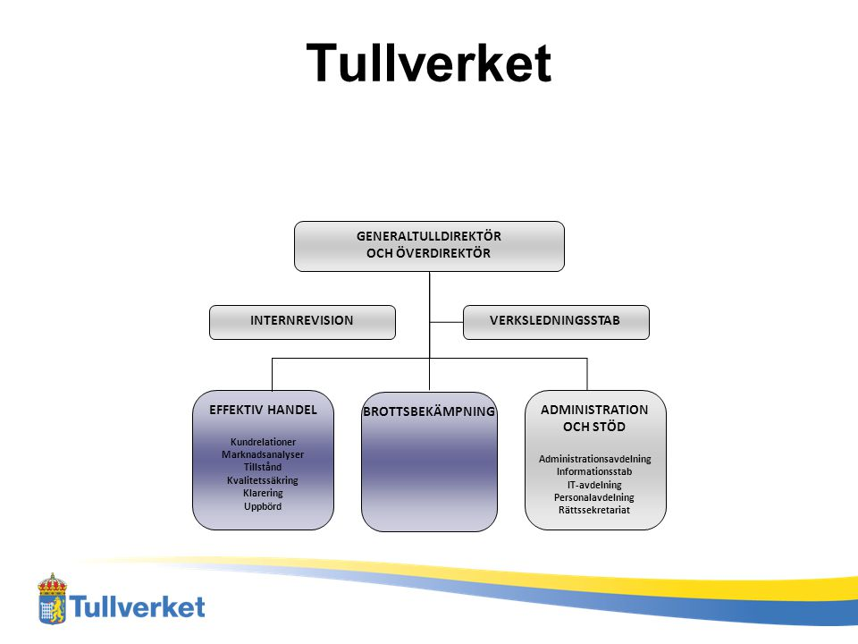 Tullverkets vision 2012 eCustoms Multi Annual Strategic Plan (MASP) –harmonisering av tullprocedur och lagstiftning –Tvingande krav med tvingande datum.