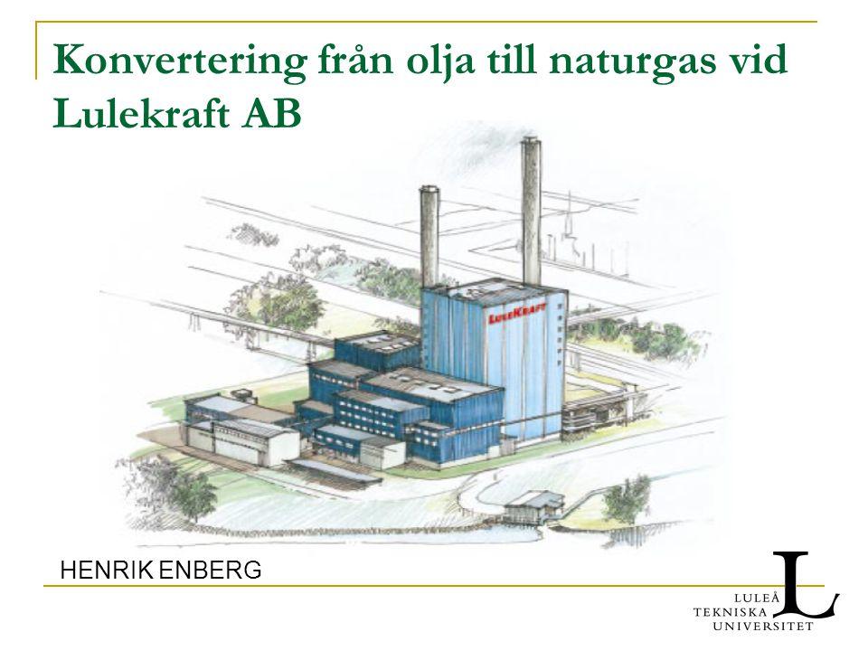 Konvertering från olja till naturgas vid Lulekraft AB HENRIK ENBERG