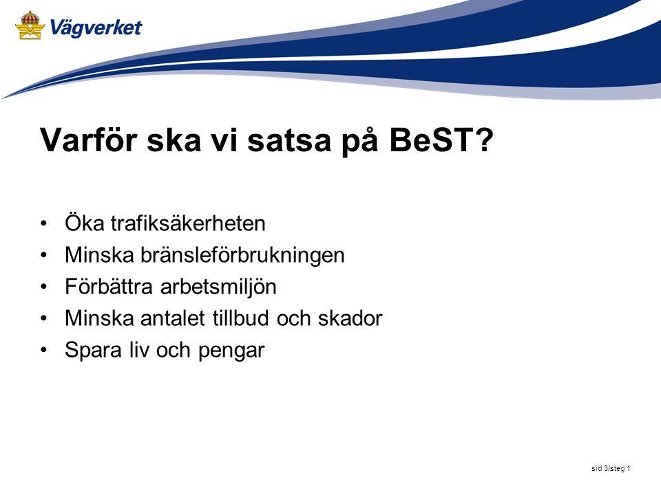 sid 3/steg 2 Varför ska vi satsa på BeST.
