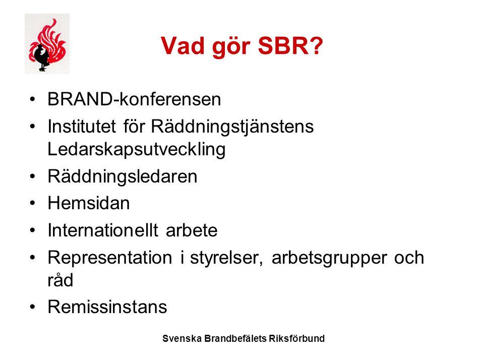 Svenska Brandbefälets Riksförbund Vad gör SBR.
