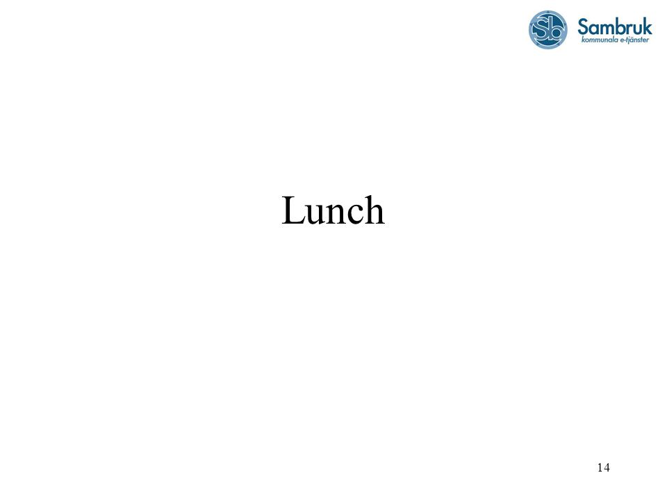 14 Lunch