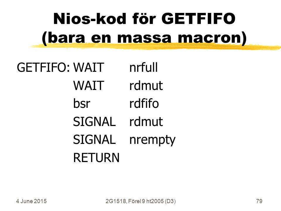 4 June 20152G1518, Förel 9 ht2005 (D3)79 Nios-kod för GETFIFO (bara en massa macron) GETFIFO:WAITnrfull WAITrdmut bsrrdfifo SIGNALrdmut SIGNALnrempty RETURN