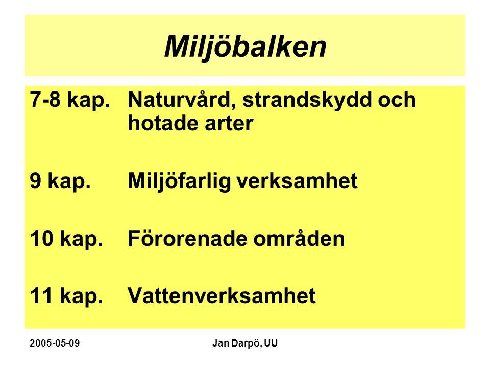 2005-05-09Jan Darpö, UU Miljöbalken 12 kap.Jordbruk, samråd m.m.