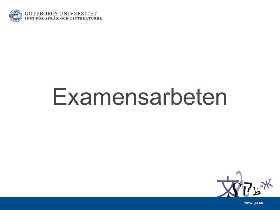 www.gu.se Examensarbeten