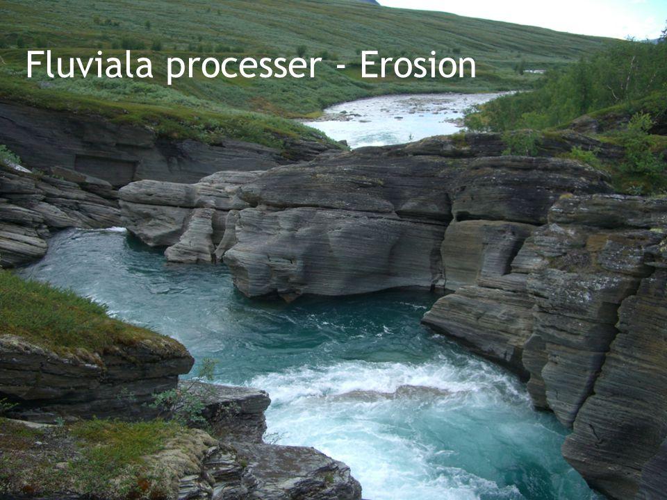 Fluviala processer - Erosion