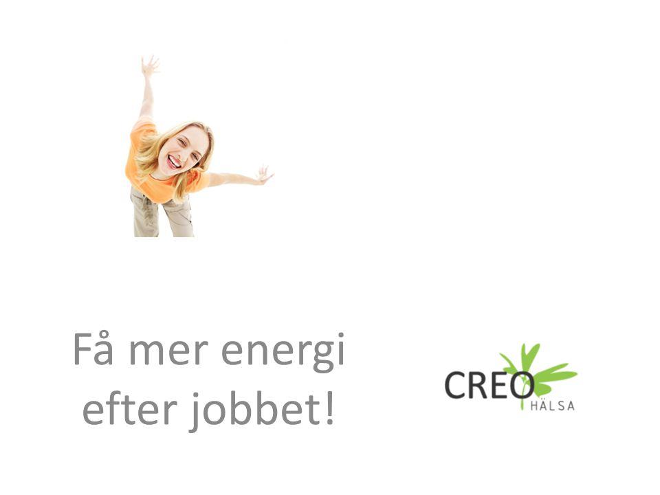 Inledande frågor Upplever du att du har tillräckligt med energi efter jobbet.
