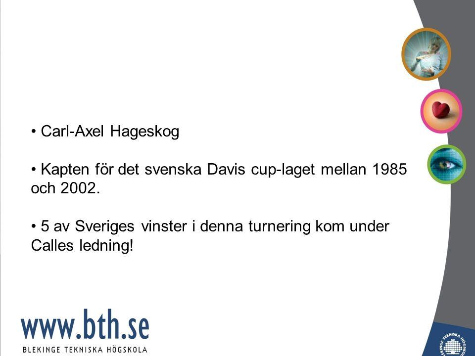 Carl-Axel Hageskog Kapten för det svenska Davis cup-laget mellan 1985 och 2002.