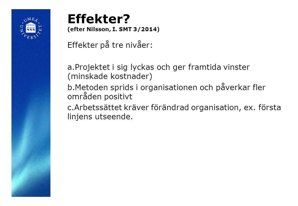 Effekter. (efter Nilsson, I.