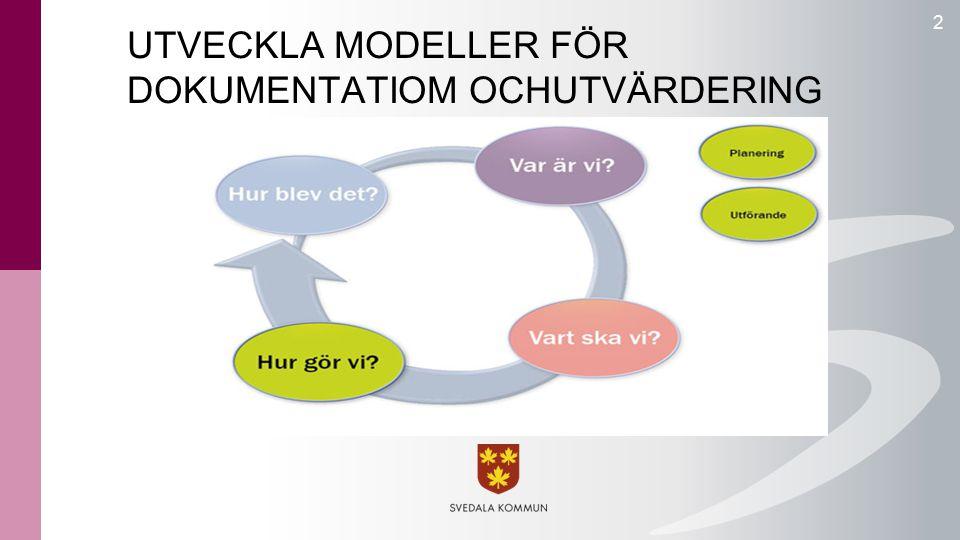 UTVECKLA MODELLER FÖR DOKUMENTATIOM OCHUTVÄRDERING 2