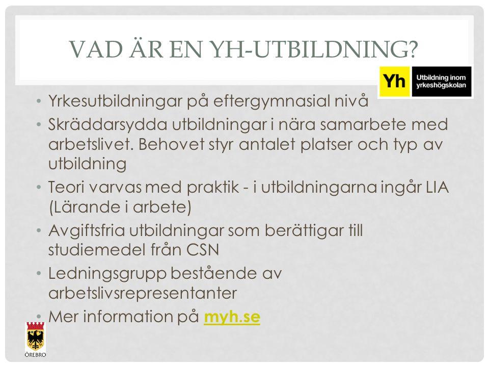 VAD ÄR EN YH-UTBILDNING.