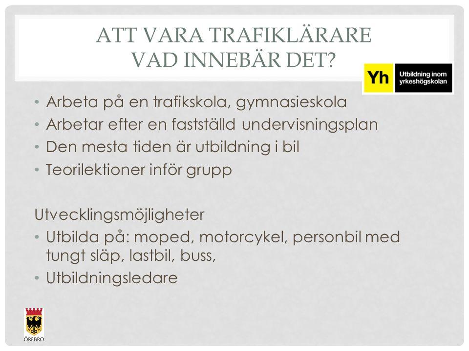 ATT VARA TRAFIKLÄRARE VAD INNEBÄR DET.