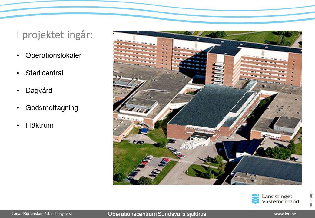 Operationscentrum Sundsvalls sjukhus www.lvn.se Jonas Rudenstam / Jan Bergqvist 2015-03-30/jb Operationslokaler Sterilcentral Dagvård Godsmottagning F