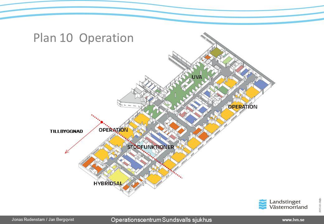 Operationscentrum Sundsvalls sjukhus www.lvn.se Jonas Rudenstam / Jan Bergqvist 2015-03-30/jb TILLBYGGNAD Plan 10 Operation