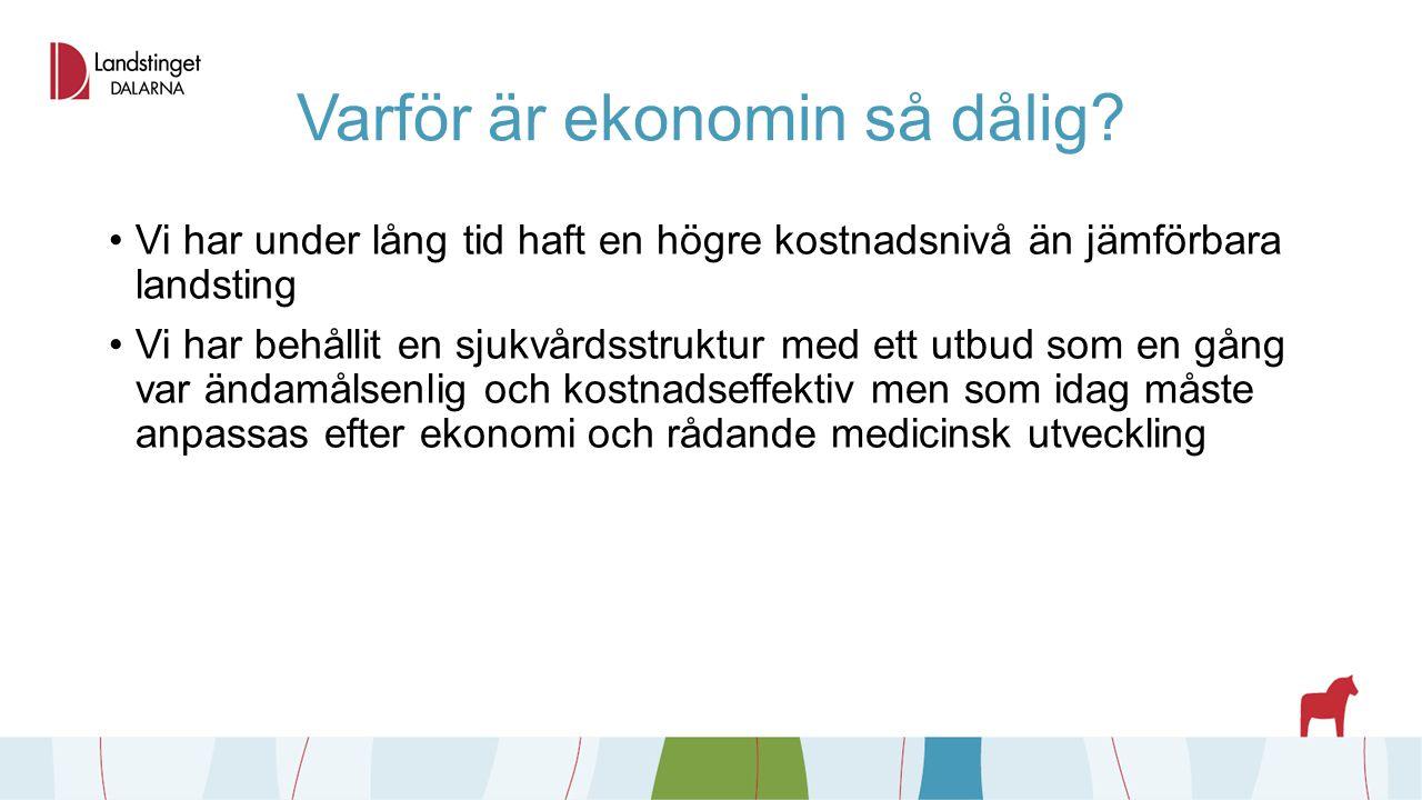 Politiska beslut avgifter Inom hälso- och sjukvården höjs alla patientavgifter generellt med 50 kronor Ny avgift för besök på akutmottagningar i Falun och Mora blir 400 kronor oavsett tid på dygnet Ambulansavgiften inkluderas i högkostnadsskyddet Slutenvårdsavgiften höjs från 80 kronor till 100 kronor per dygn Fortsatt avgiftsfritt för barn till och med 19 år Eventuella avgiftsförändringar inom tandvård och hjälpmedelsverksamhet kommer i samband med budgetbeslutet i november
