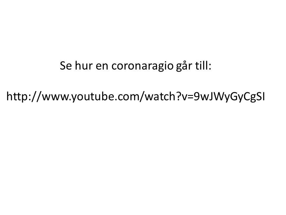 Se hur en coronaragio går till: http://www.youtube.com/watch?v=9wJWyGyCgSI