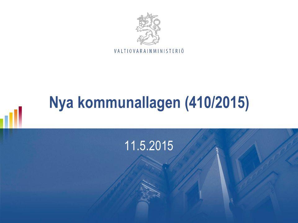 Nya kommunallagen (410/2015) 11.5.2015
