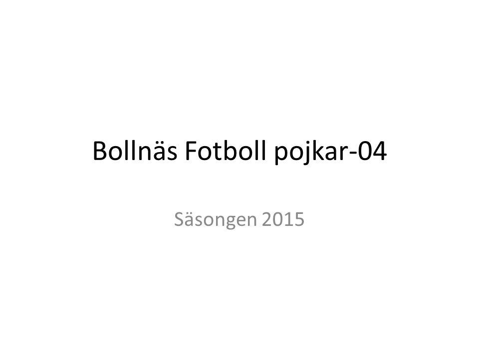 Bollnäs Fotboll pojkar-04 Säsongen 2015
