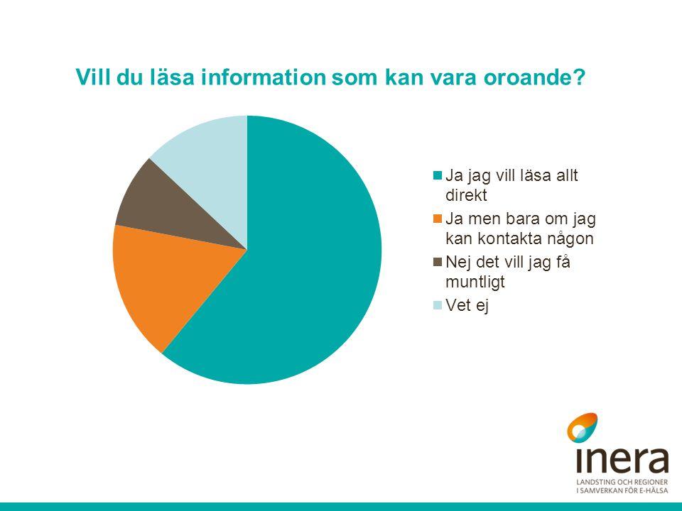 Vill du läsa information som kan vara oroande?