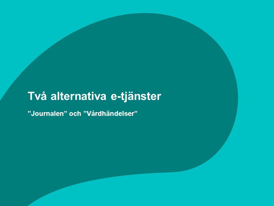 Två alternativa e-tjänster Journalen och Vårdhändelser