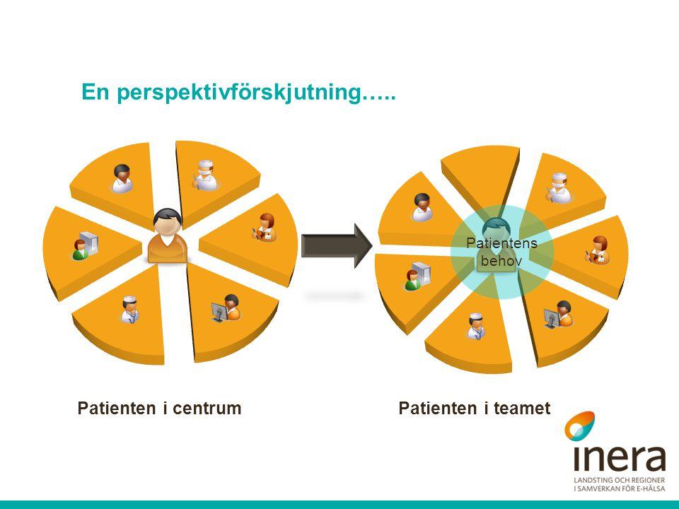 Patienten i centrumPatienten i teamet Patientens behov En perspektivförskjutning…..