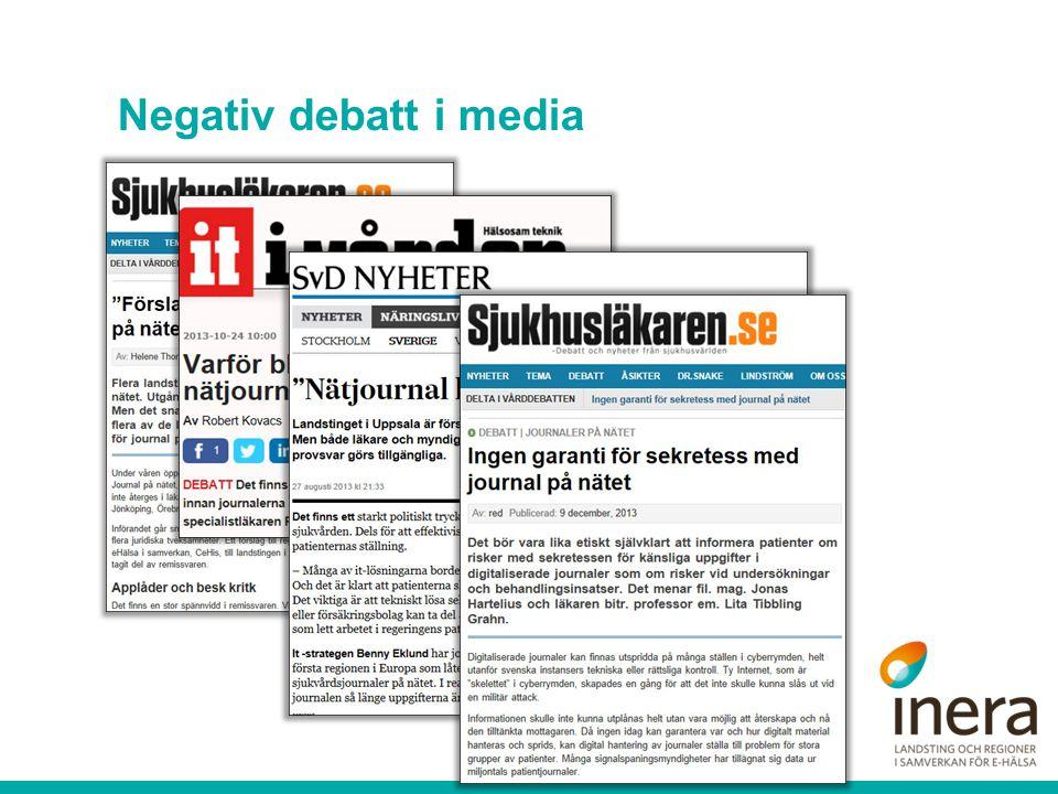 Negativ debatt i media