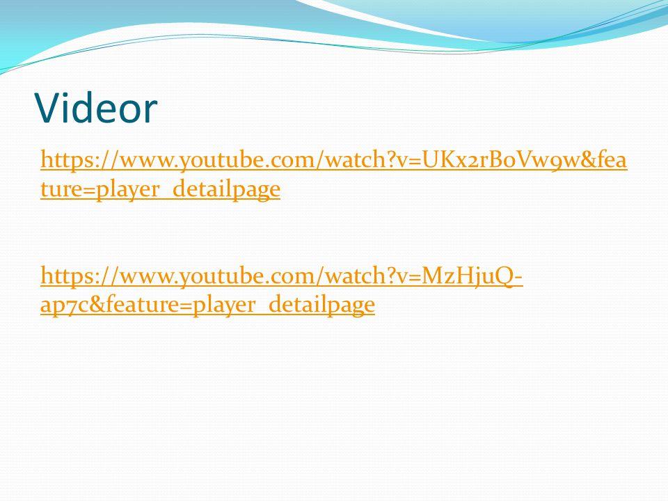 Videor https://www.youtube.com/watch?v=UKx2rB0Vw9w&fea ture=player_detailpage https://www.youtube.com/watch?v=MzHjuQ- ap7c&feature=player_detailpage