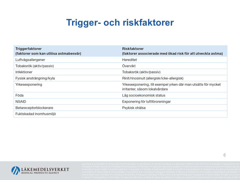 Trigger- och riskfaktorer 6