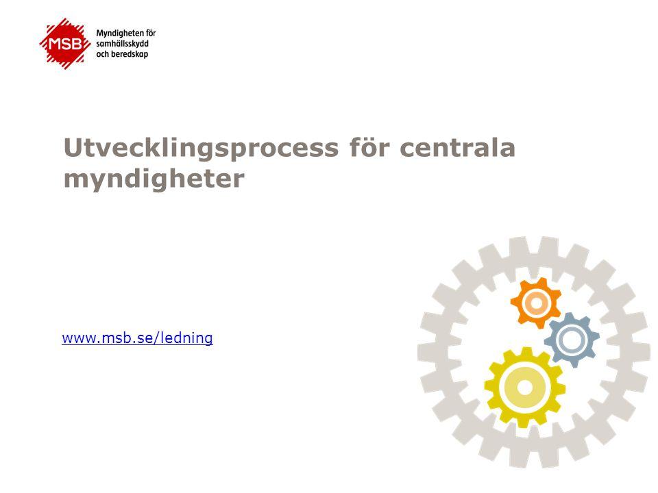 Utvecklingsprocess för centrala myndigheter www.msb.se/ledning