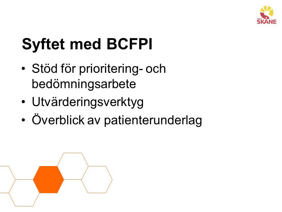 BCFPI består av två delar Öppen fråga (Kvalitativ) Strukturerade frågor skickas via mail (Kvantitativ)