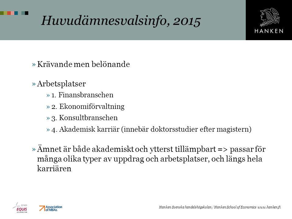 »Krävande men belönande »Arbetsplatser »1.Finansbranschen »2.