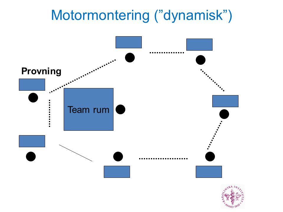 Team rum Provning Motormontering ( dynamisk )