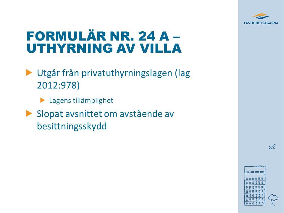 FORMULÄR NR.