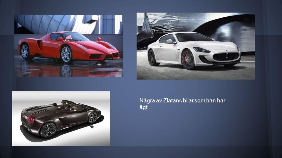 Några av Zlatans bilar som han har ägt