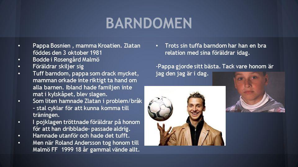 BARNDOMEN Pappa Bosnien, mamma Kroatien.