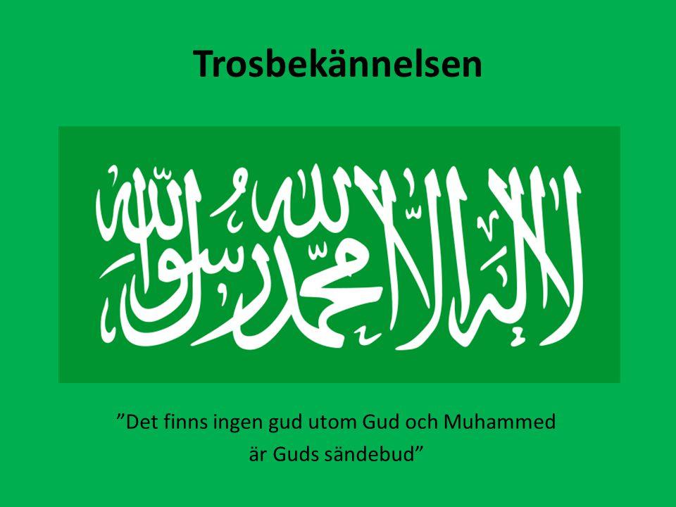 """Trosbekännelsen """"Det finns ingen gud utom Gud och Muhammed är Guds sändebud"""""""