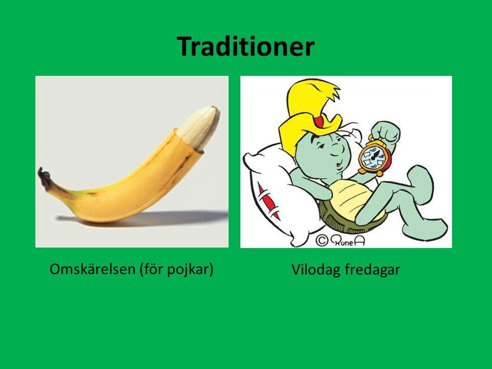 Traditioner Omskärelsen (för pojkar) Vilodag fredagar