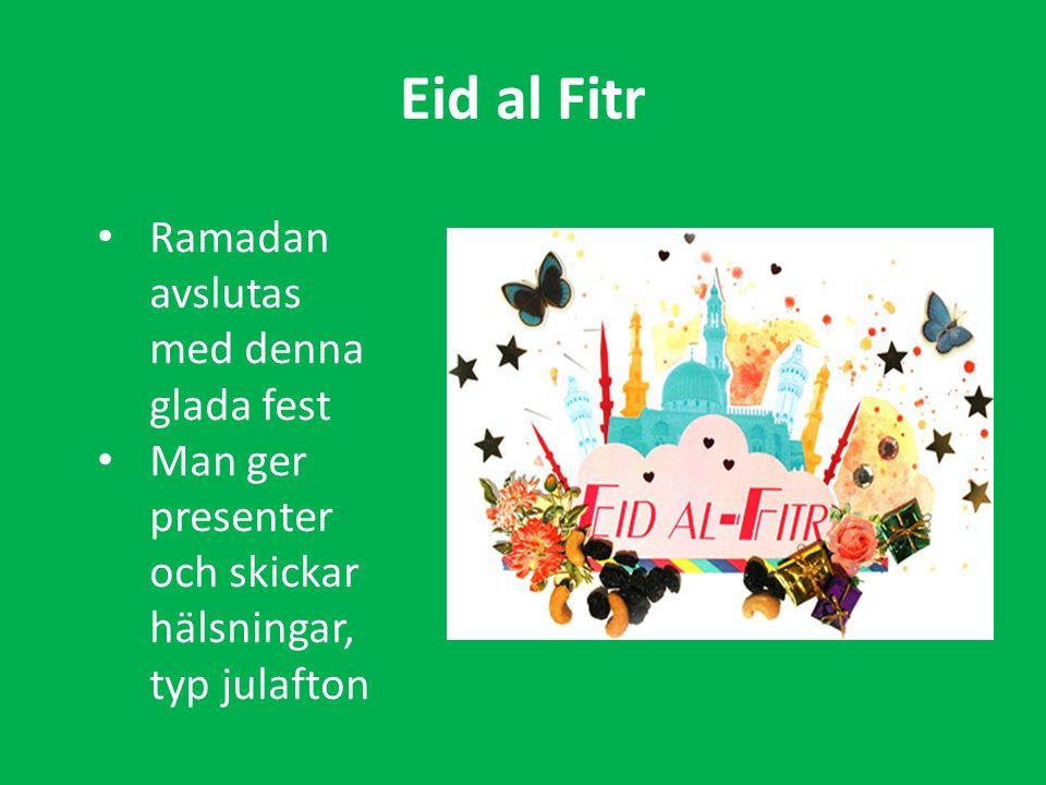 Eid al Fitr Ramadan avslutas med denna glada fest Man ger presenter och skickar hälsningar, typ julafton