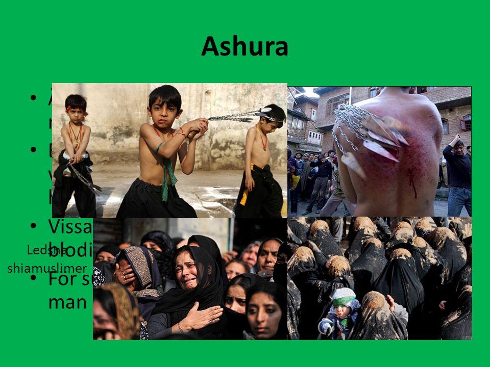 Ashura Är en sorgehögtid inom shia och firas till minne av Husayn, Mohammeds systerson. Brukar återberättas i olika skådespel. Det är vanligt att åskå